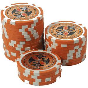 The poker chips to play poker